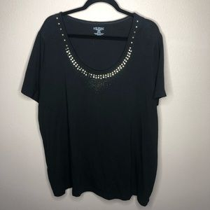 Black/Gold Lane Bryant Top Size 26/28